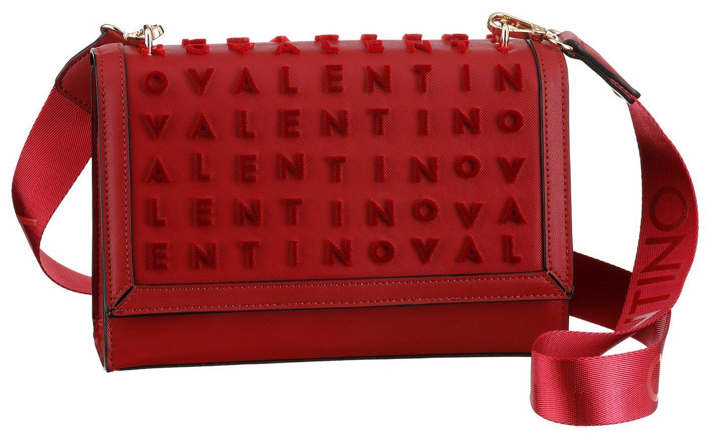 valentino by mario valentino -  Umhängetasche »Concorde«, mit auffällige Label-Druck und goldfarbenen Details