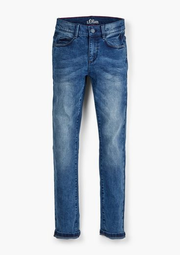 s.Oliver 5-Pocket-Jeans »Slim: Jeans im Used-Look« Waschung