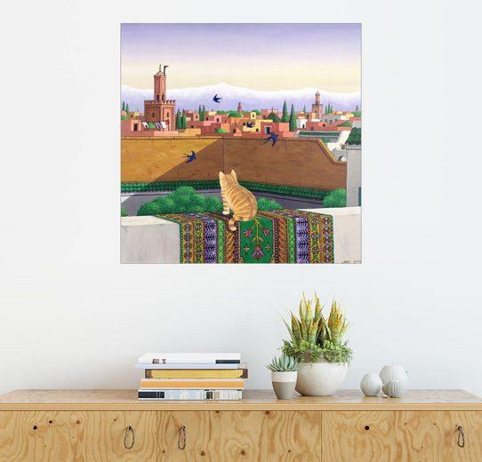 Posterlounge Wandbild, Premium-Poster Dächer in Marrakesch