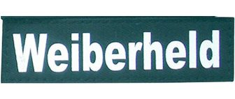 HEIM Klettlogo »Weiberheld« (2 St) dėl Hund...