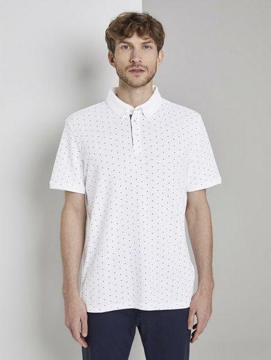 TOM TAILOR Poloshirt »Poloshirt mit Allover-Print«