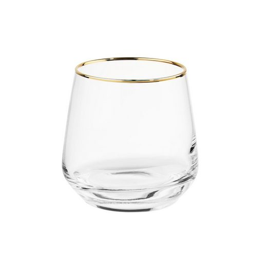 BUTLERS Glas »TOUCH OF GOLD 6x Glas mit Goldrand 345 ml«, Glas