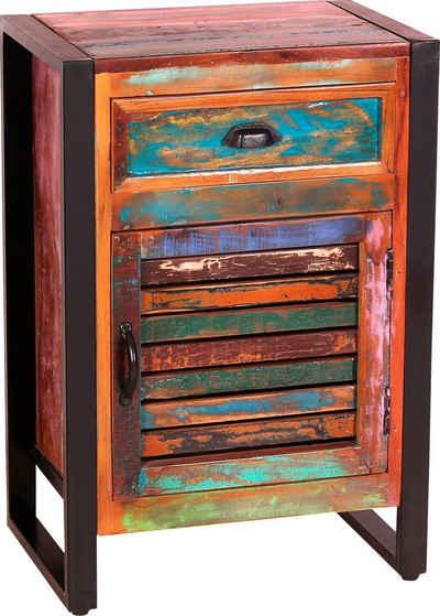 SIT Kommode, Gefertigt aus bunt lackiertem Altholz
