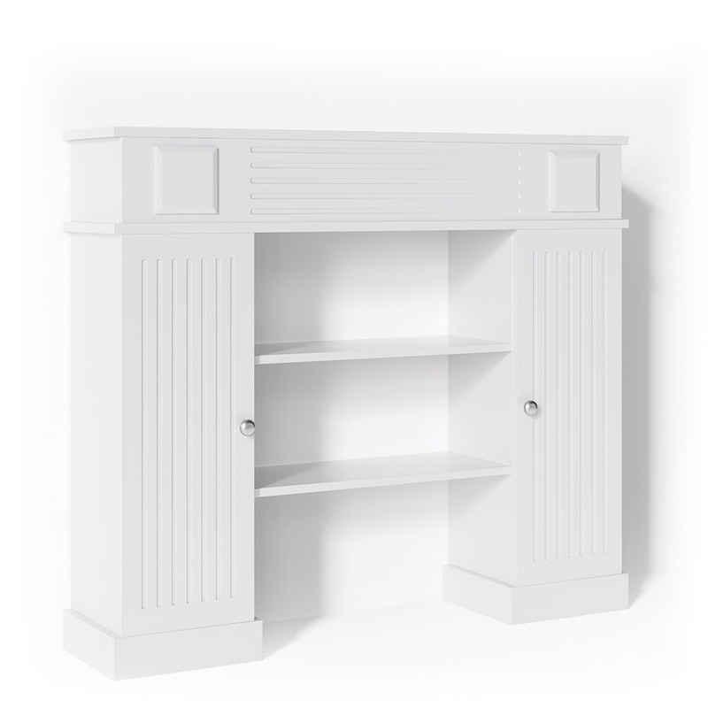 Vicco Kaminumbauschrank »Kaminumrandung im Landhaus Stil mit Tür Umbau Rahmen Konsole 119,5x103 cm Weiß«