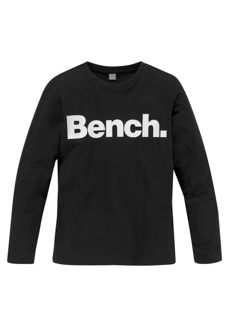 Bench. Langarmshirt mit Logodruck