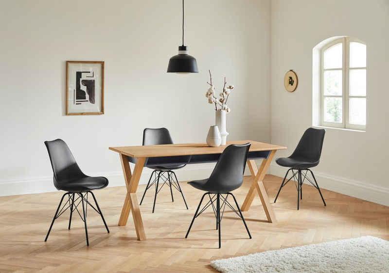 andas Esstisch »Braye«, Design by Michael Hilgers, mit integrierten Fächern unter der Tischplatte