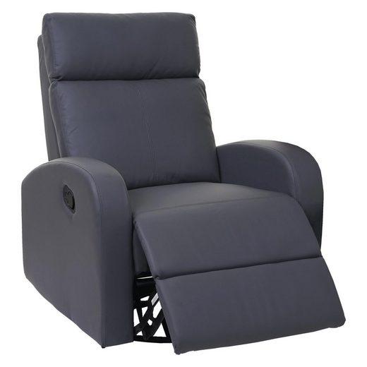MCW Relaxsessel »MCW-A54«, 360° drehbar, Schaukel- Wipp-Funktion, Synchrone Verstellung der Rücken- und Fußlehne