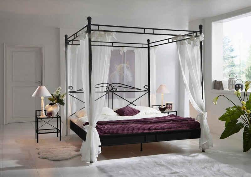 SAM® Himmelbett »Falun«, Doppelbett Himmelbett 180cm schwarz