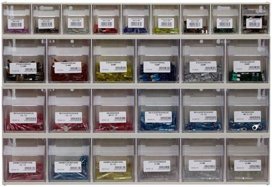 RAMSES Kleinteilemagazin, 3x6-fach, 1x9-fach, Sicherungen und Elektroverbinder