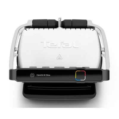 Tefal Tischgrill Optigrill Elite GC750D - Kontaktgrill - silber/schwarz