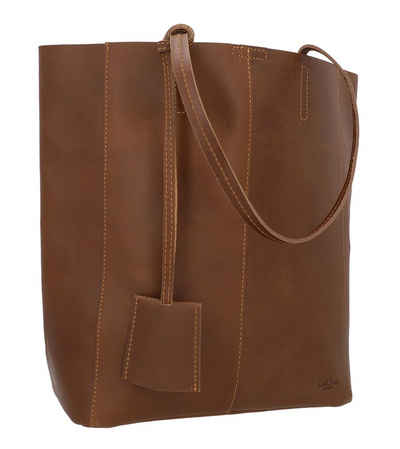 Gusti Leder Shopper »Cassidy«, Shopper Handtasche Ledertasche Henkeltasche Laptoptasche Damen Braun Leder