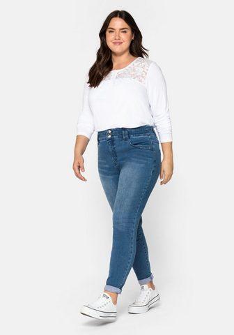 Sheego Stretch-Jeans su Bodyforming-Effekt