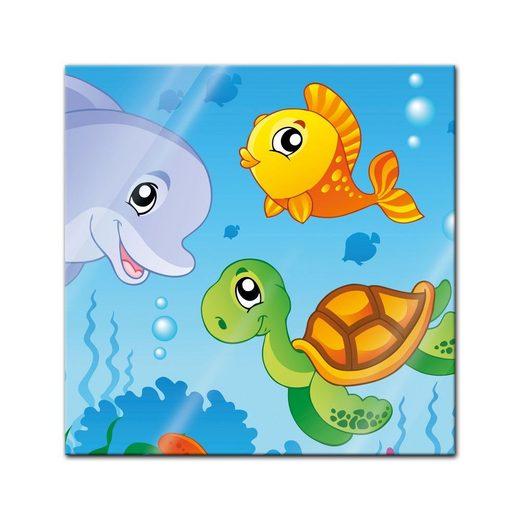 bilderdepot24 glasbild glasbild  kinderbild unterwasser