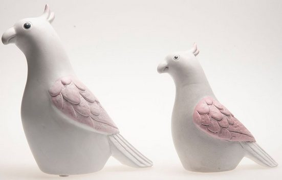 VALENTINO Wohnideen Tierfigur »Papagei Marle« (Set, 2 Stück), aus Keramik