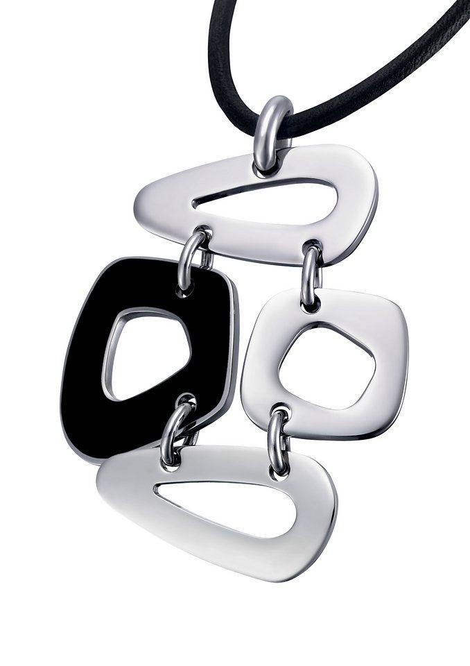 Lotus Style Halsschmuck: Halskette »LS1163-1/2« mit Leder-Band in silberfarben