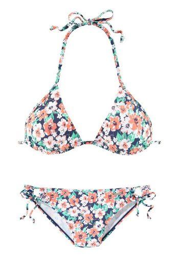Damen Chiemsee Triangel-Bikini im schönen Blumenprint rot | 04894211030040