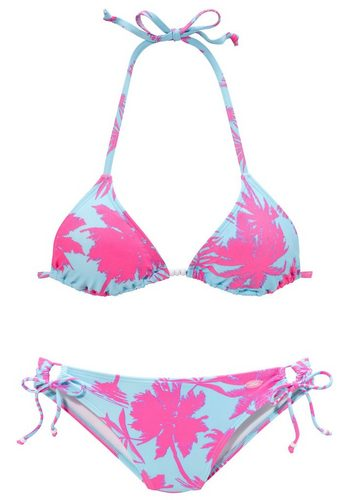 Damen Venice Beach Triangel-Bikini mit Zierperlen rosa | 04893865413636