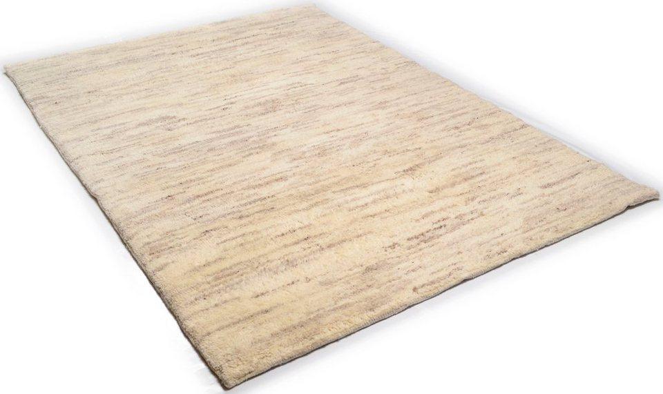 Orientteppich »Tanger 1«, Theko, rechteckig, Höhe 20 mm, Naturbelassene Wolle in natur-grau