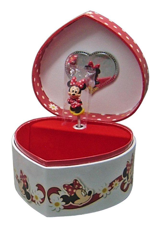 JOY TOY Schmuckkästchen mit Spieluhr herzförmig »Minnie Mouse«