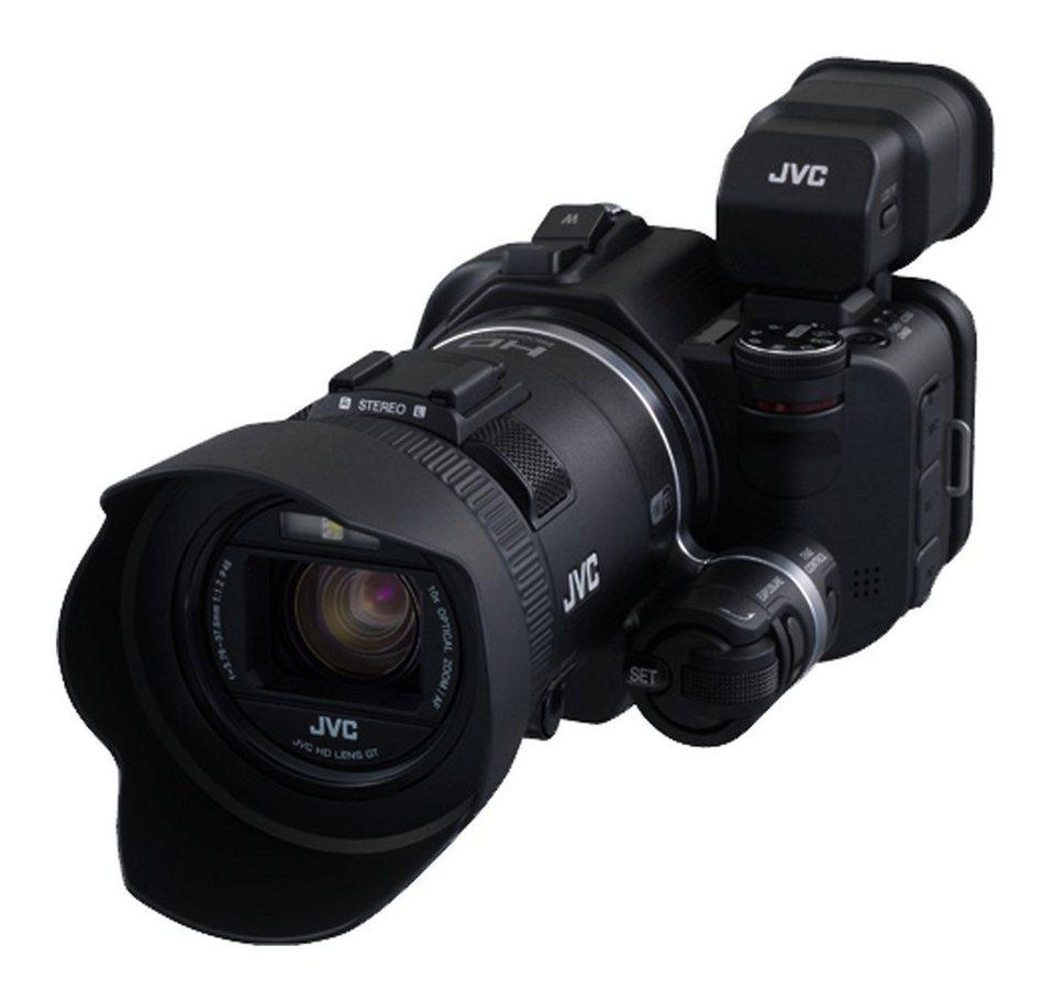 JVC GC-PX100 1080p (Full HD) Camcorder, Videoleuchte, WLAN in schwarz