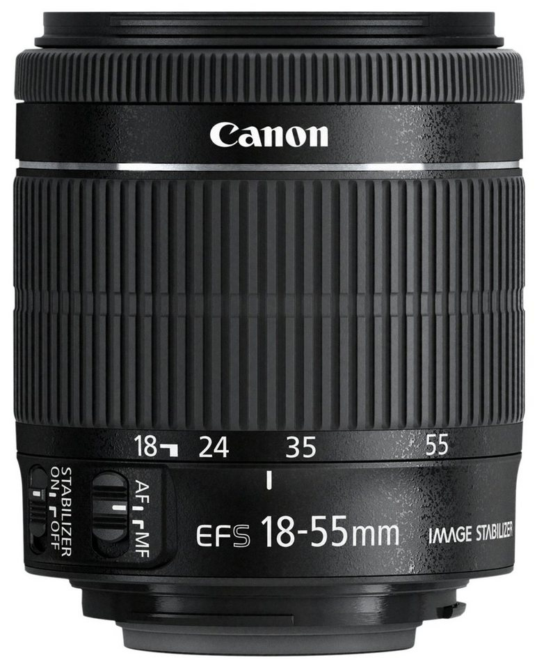 Canon EF-S 18-55mm f/3.5-5.6 IS Standardzoom Objektiv in schwarz