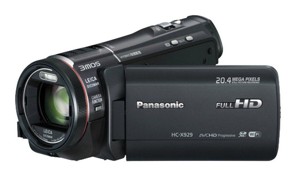 Panasonic HC-X929 1080p (Full HD) Camcorder, 3D-fähig, WLAN in schwarz