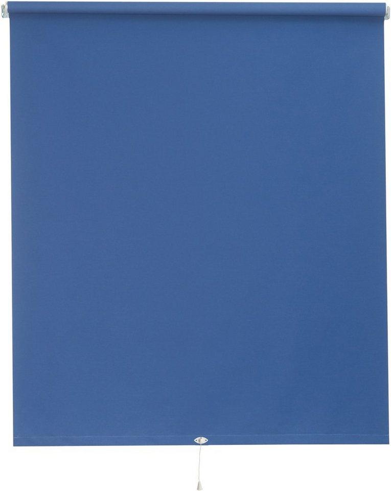 Springrollo nach Wunschmaß, (1 Stück), Verdunkelung in blau