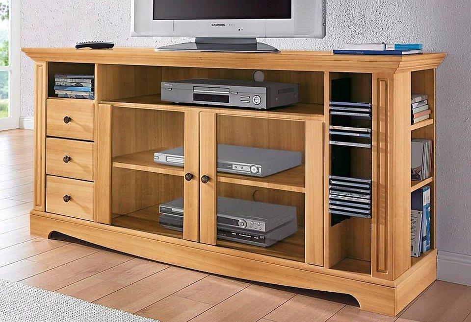 TV-Tisch, Home affaire, Breite 153 cm, Belastbarkeit bis 40 kg in geölt