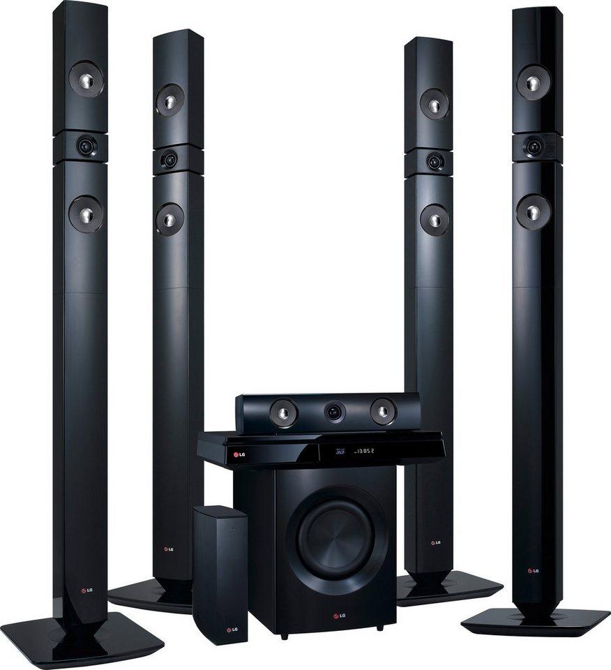 LG BH7530TWB Heimkinosystem, 3D Blu-ray Player, 1.200 W, 3D-fähig, WLAN, Bluetooth, Spotify in schwarz
