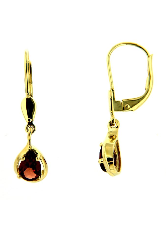 Vivance jewels Paar Ohrhänger »Tropfen« mit Granatsteinen