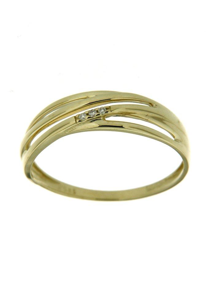 Vivance Jewels Ring im Verlauf mit Diamanten in goldfarben