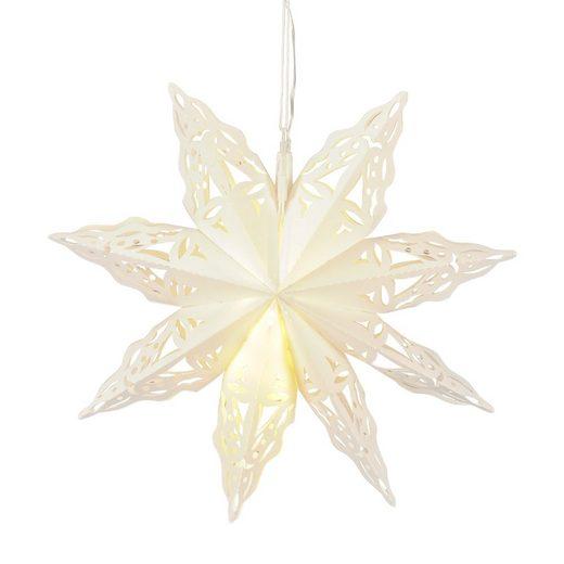 Posiwio Lichterkette »Outdoor LED Stern JUL weiß aus Kunststoff mit Beleuchtung Weihnachten D45cm«