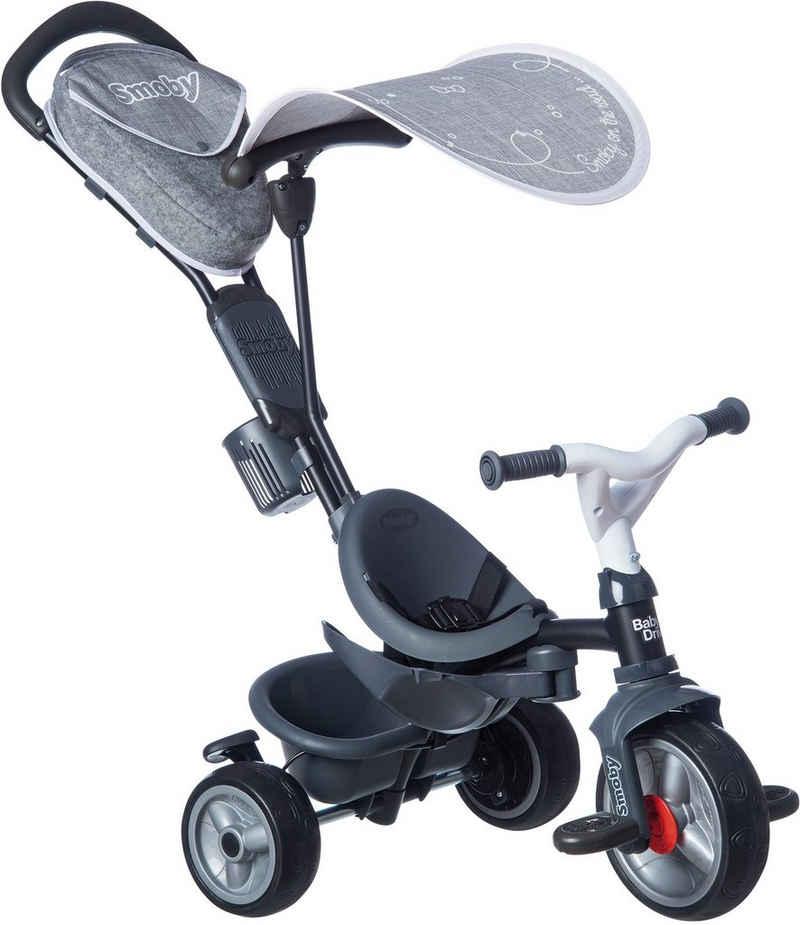 Smoby Dreirad »Baby Driver Plus, Grau«, Made in Europe