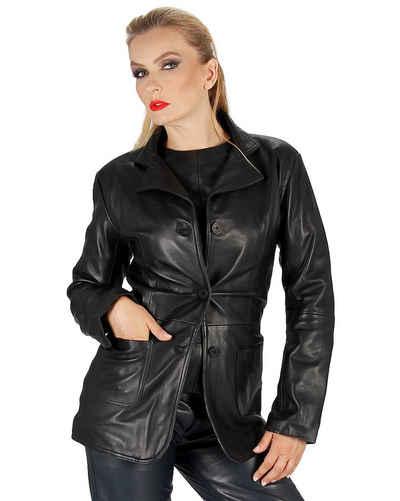 Fetish-Design Lederblazer »Leder-Blazer Schwarz Blazer Lederjacke aus echtem Leder«