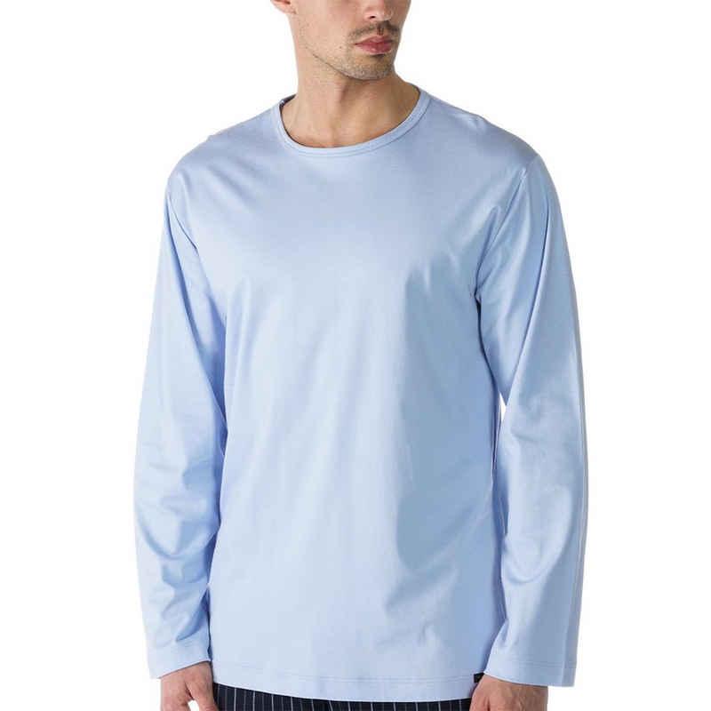 Mey Pyjamaoberteil »Basic Lounge Nightwear Mix & Match« Shirt 1/1 Arm - Rundhalsauschnitt, Langarm, Natürliches Tragegefühl