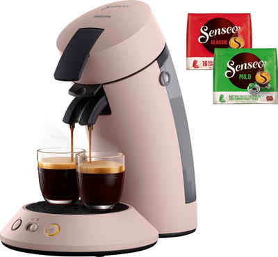 Senseo Kaffeepadmaschine SENSEO Original Plus CSA210/30, inkl. Gratis-Zugaben im Wert von 5,- UVP