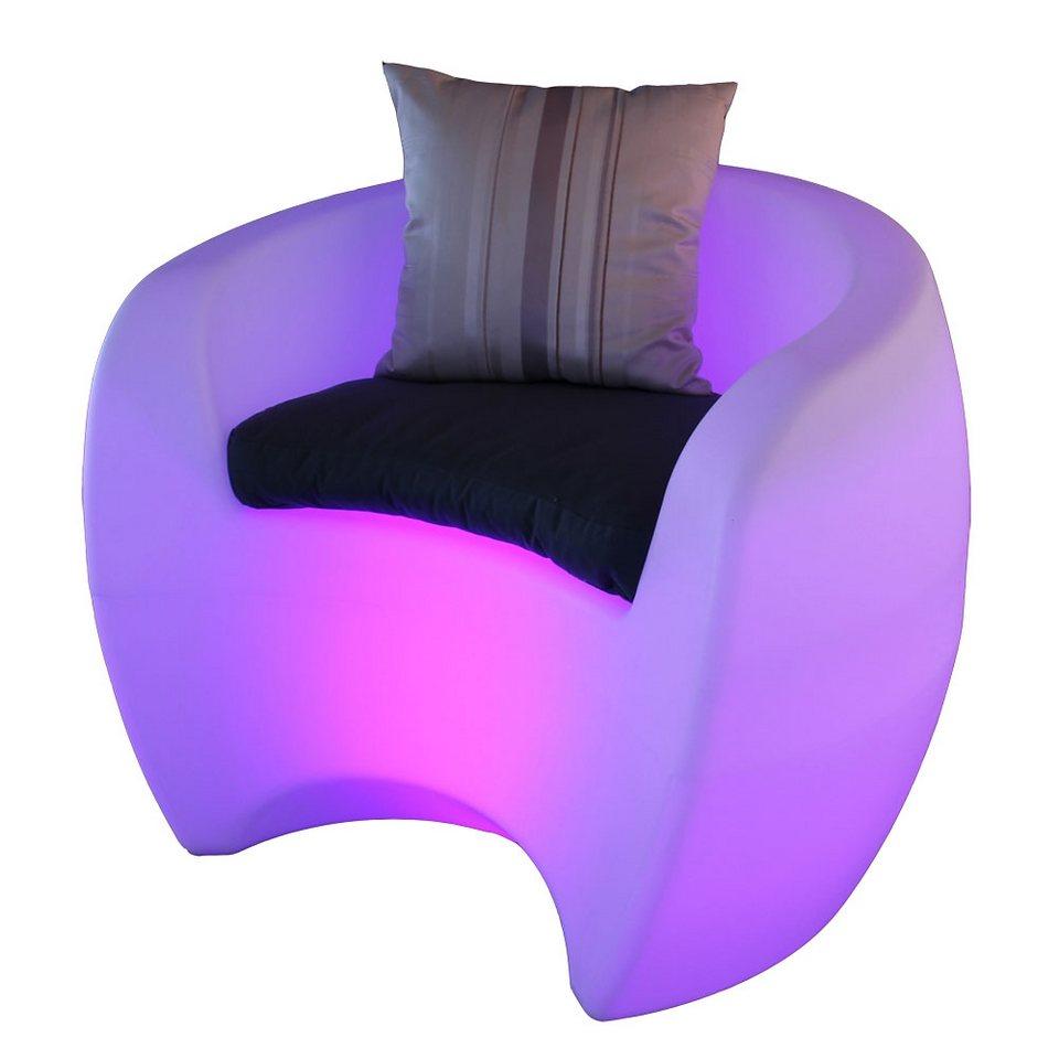 s luce led sessel gartenm bel place mit farbwechsler akkubetrieb f r aussen online kaufen otto. Black Bedroom Furniture Sets. Home Design Ideas