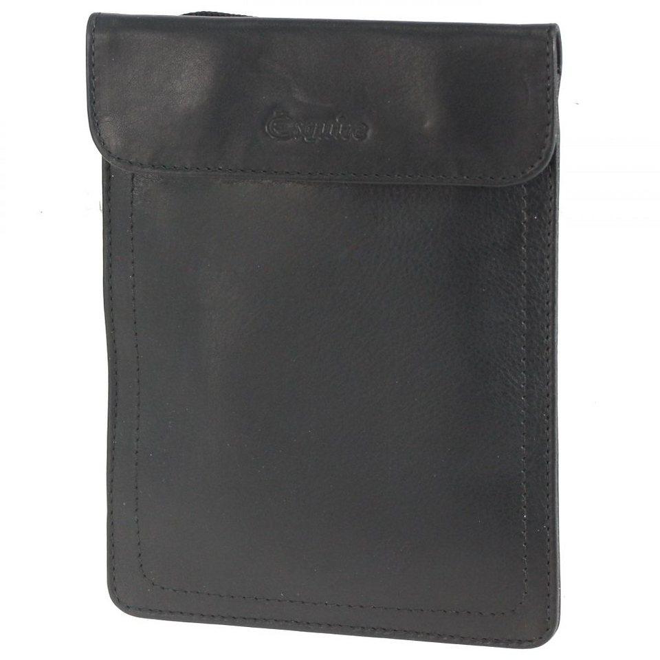 Esquire Silk Brustbeutel Leder 12 cm in black