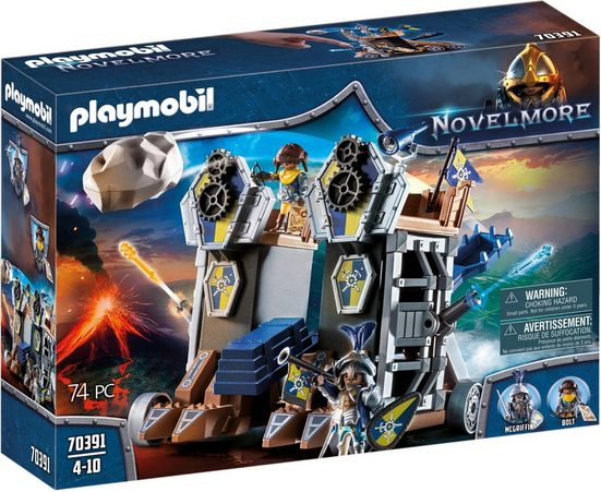 Playmobil® Konstruktions-Spielset »Mobile Katapultfestung (70391), Novelmore«, ; Made in Germany