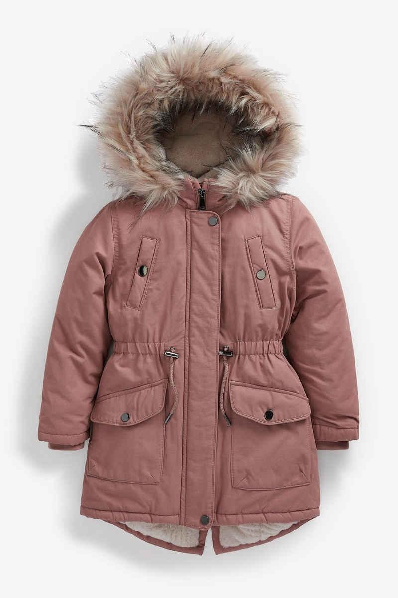 Next Outdoorjacke »Shower Resistant Faux Fur Trim Parka« (1-St)