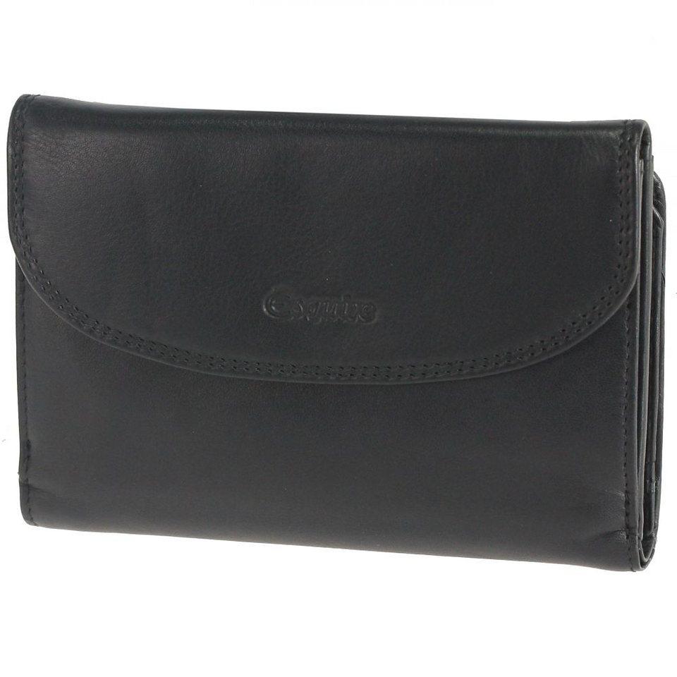 Esquire Silk Damengeldbörse Leder 14,5 cm in black