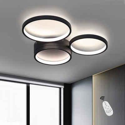 ZMH LED Deckenleuchte »Deckenlampe 38W dimmbar farbwechsel aus Aluminium Ring-Design für Wohnzimmer Schlafzimmer«