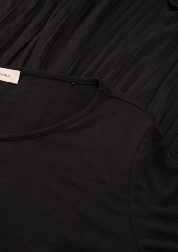 TRIANGLE Minikleid »Jerseykleid mit Plisseefalten«