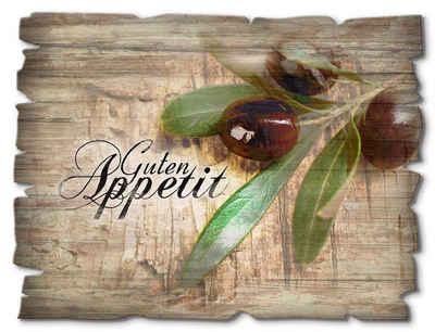 Artland Holzbild »Oliven Guten Appetit«, Speisen (1 Stück)