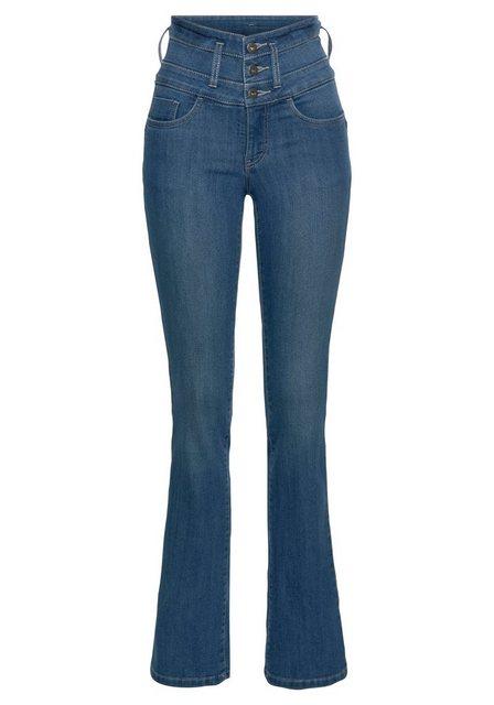 Hosen - Arizona Bootcut Jeans »mit extrabreitem Bund« High Waist › blau  - Onlineshop OTTO