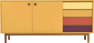 TOM TAILOR Sideboard »COLOR BOX«, mit 2 Türen & 4 Kontrast-Schubladen, Füße Eiche geölt, Breite 170 cm