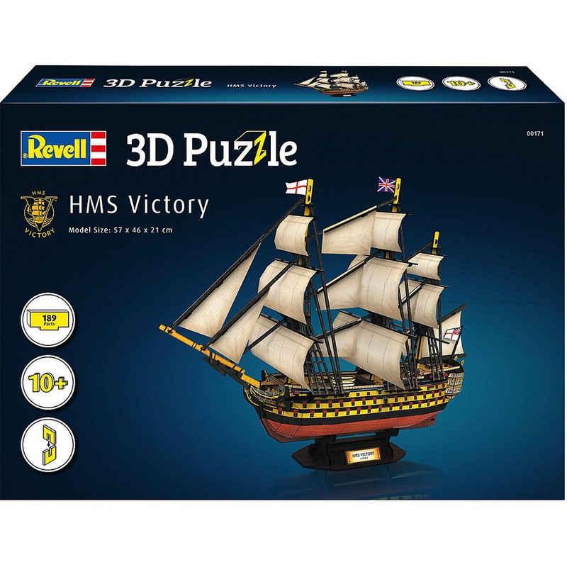 Revell® 3D-Puzzle »3D-Puzzle HMS Victory, 189 Teile«, Puzzleteile