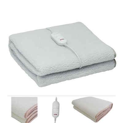 Grafner Wärmeunterbett »elektrisches Wärmeunterbett / Heizdecke aus synthetischer Wolle 150x80cm Wärmedecke«, 2 unterschiedlichen schaltbaren Heizstufen, Überhitzungsschutz