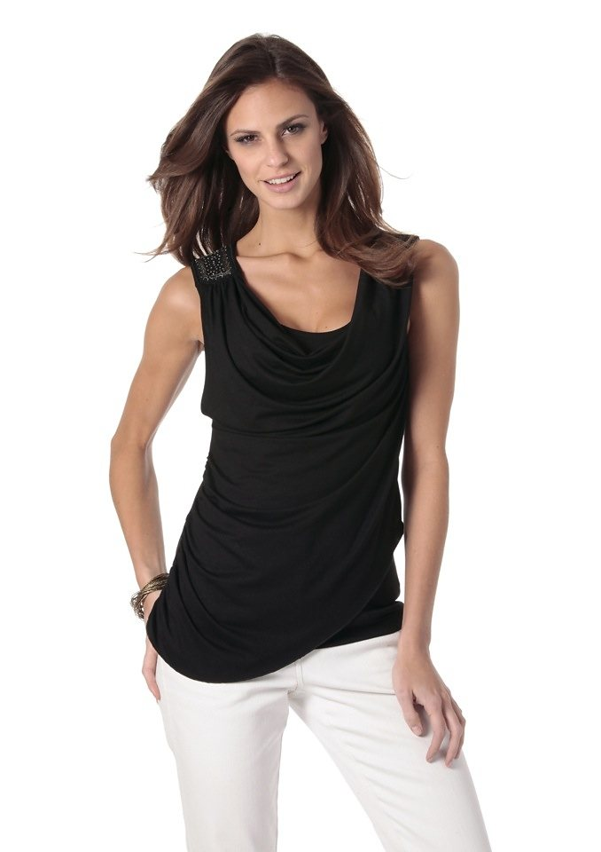 2-in-1-Top, VIVANCE COLLECTION in schwarz