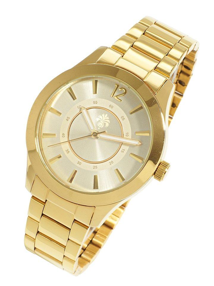 Armbanduhr in goldfarben